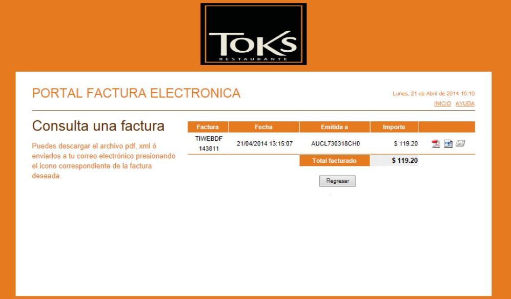 descargar factura xml y pdf toks recuperada